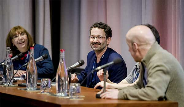 A panel discussion at an event