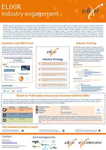 Poster on industry engagement