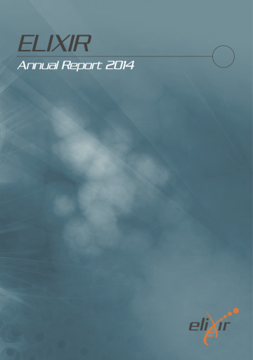 ELIXIR Annual Report 2014 - cover page