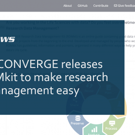 ELIXIR-CONVERGE releases the RDMkit to make research data management easy
